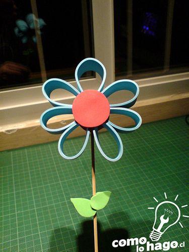 Como hacer una flor de foami para regalarle a mamá