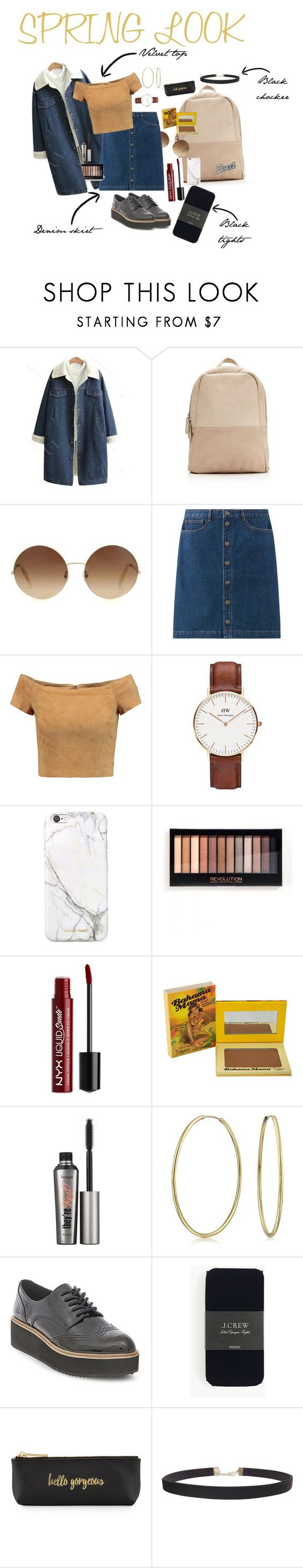 """Spring"" by marinacr03 ❤ liked on Polyvore featuring Victoria Beckham, Alice + Olivia, Daniel Wellington, russell+hazel, NYX, TheBalm, Benefit, Bling Jewelry, Orelia and Steve Madden"