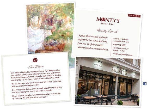 Monty's Winebar : 52 Wells Street London W1T 3PR
