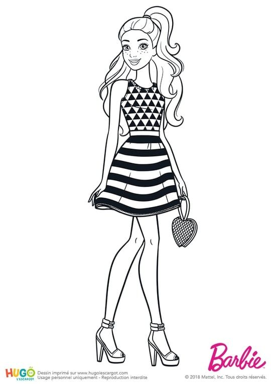 980 Coloring Pages Of Barbie Easy Download Free Images
