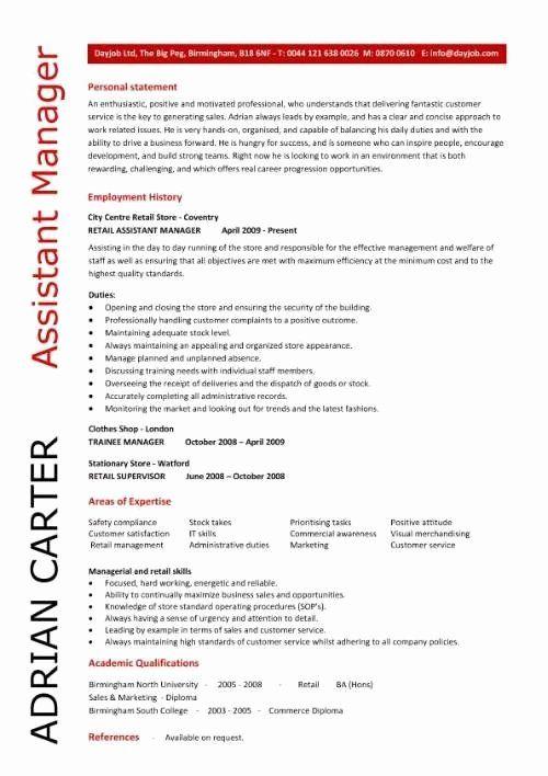 23 Assistant Manager Job Description Resume In 2020 Manager