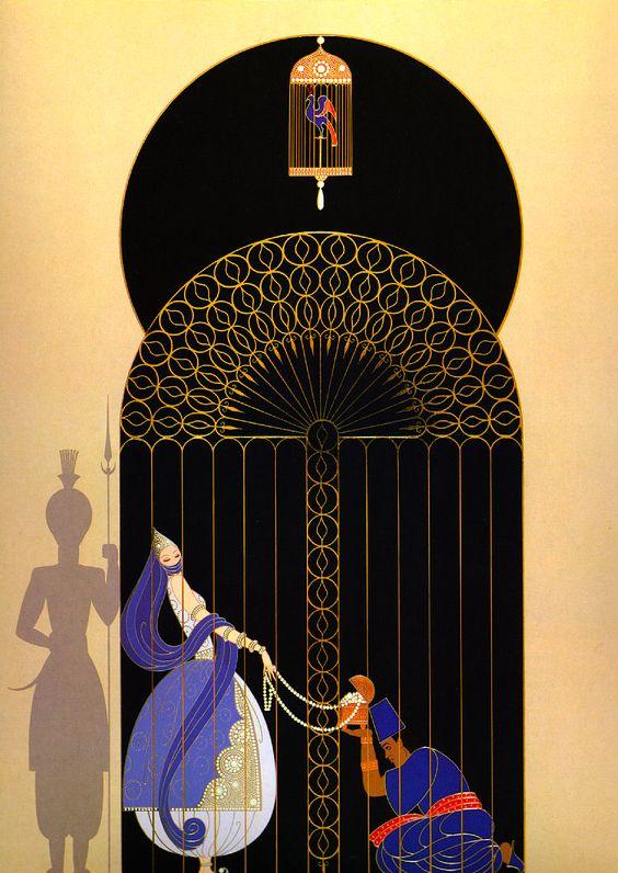 Art by Erté (Romain de Tirtoff), Russian-born French artist. (1892 – 1990):