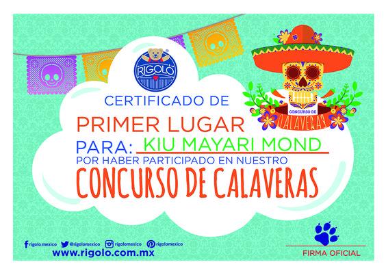 Gandor del primer lugar del #concurso de #calaveras Rigoló. www.rigolo.com.mx