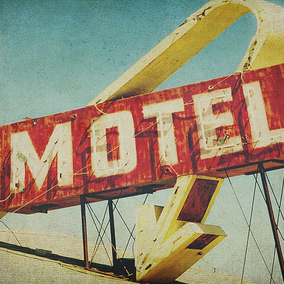 Thrashed Motel Sign Framed Art Print by Honey Malek | Society6