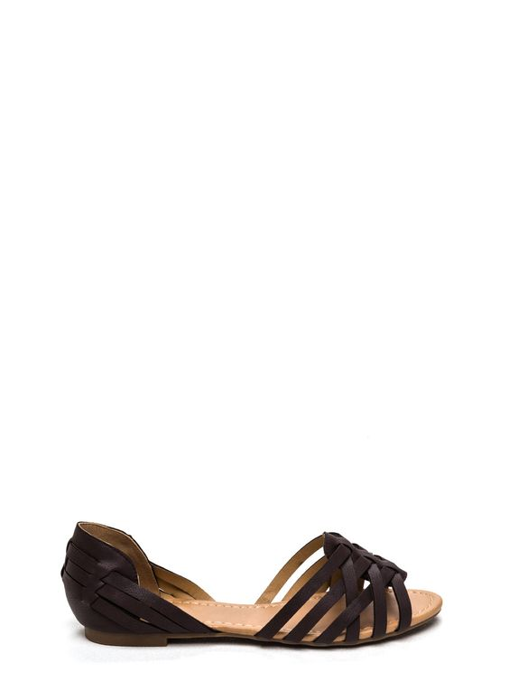 So Strap-pening Faux Leather Flats - GoJane.com