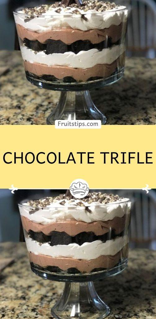 Chocolate Trifle In 2020 Chocolate Trifle Trifle Dirt Cake Trifle Recipe