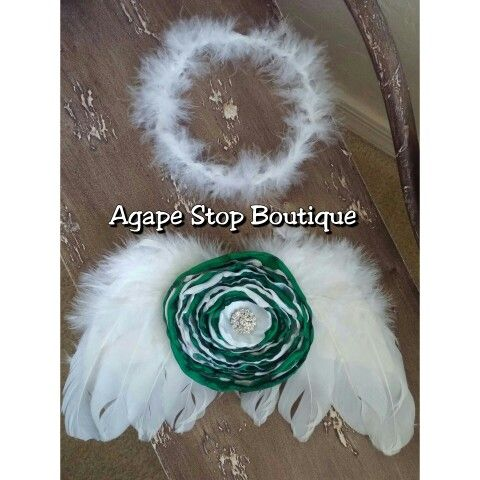 #hairbow #boutiquewear #girls #photographyprop http://agapestopboutique.storenvy.com/  Www.facebook.com/agapestopboutique #angelwings #custom