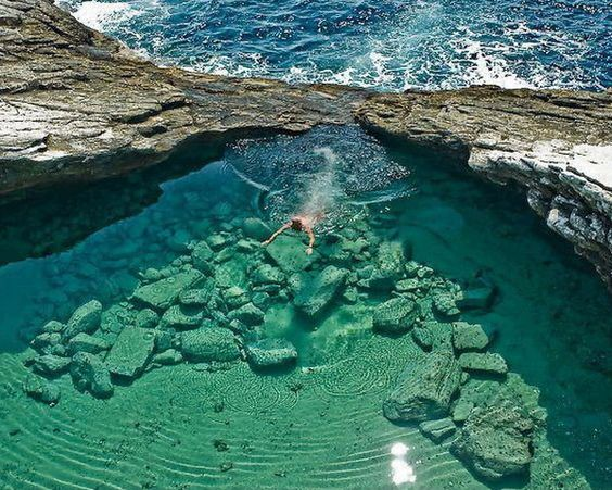 Top 10 Most Spectacular Tourist Places In The World Laguna Giola In Thassos Greece Travel