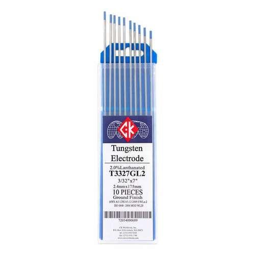 "2/% Thoriated TIG Welding Tungsten Electrodes 3//32/""x7/""10-Pack"