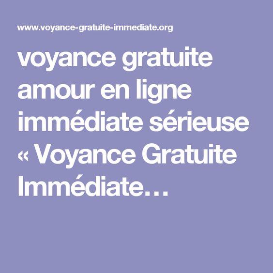 voyance gratuite amour en ligne immédiate sérieuse « Voyance Gratuite Immédiate…