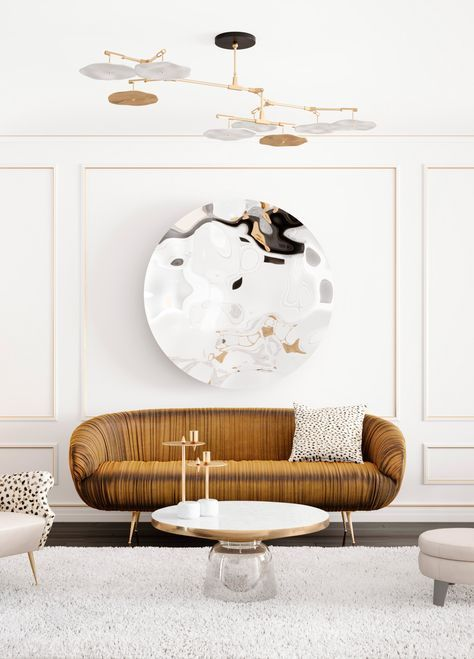 We love the combination between white and gold, such lust! | See more at www.delightfull.eu
