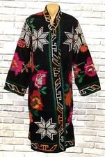 GORGEOUS VINTAGE NOMAD UZBEK KIRGHIZ COLORFUL HAND EMBROIDERY ROBE CHAPAN S41