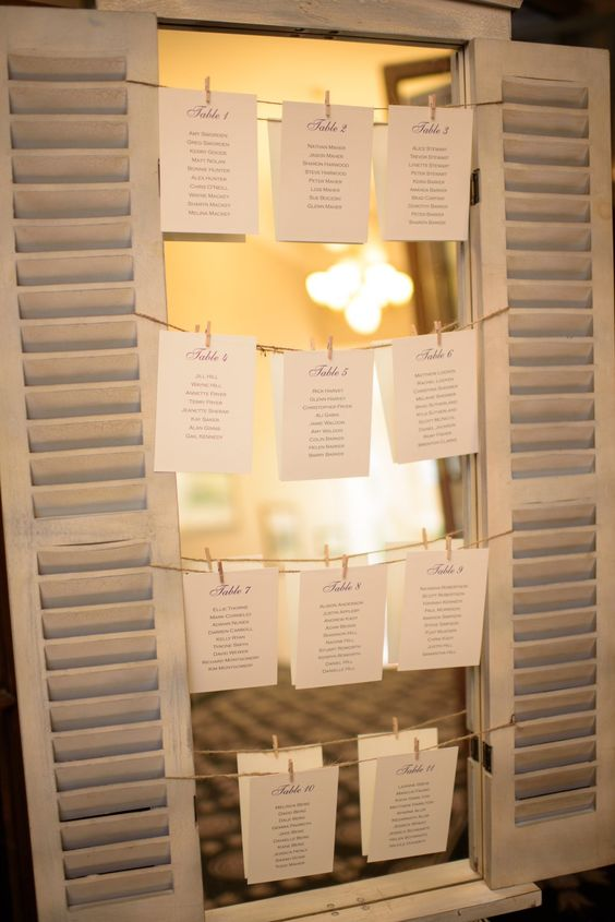 Creative way to do your seating list - each table on a separate card #fineinvitations #weddingstationerysydney