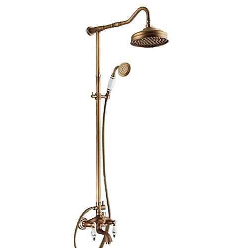Retro Vintage Shower Faucet Oil Rubbed Bronze Antique Brass