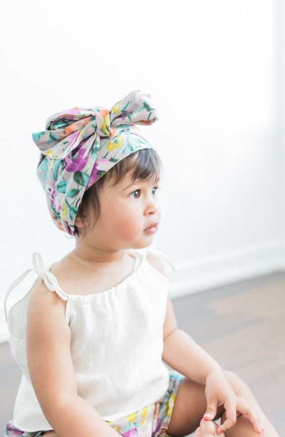 Handmade Floral Headwrap | moonroomkids on Etsy