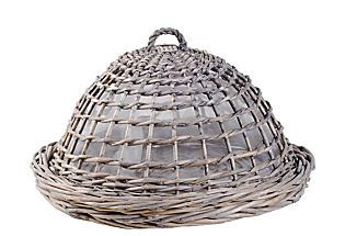 Round Willow Tray & Cover