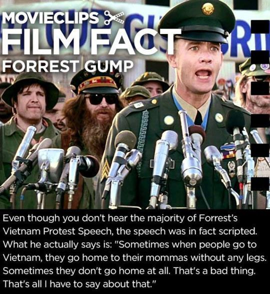 Most Funny Quotes Top 24 Forrest Gump Memes With Images Forrest Gump Memes Forrest Gump Film Facts