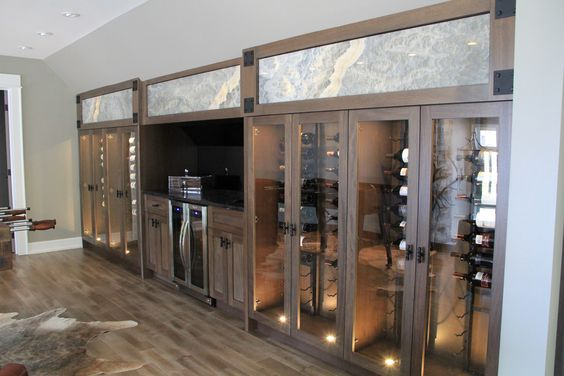 Wine anyone?  By absolute cabinets Design by Madison Taylor Design