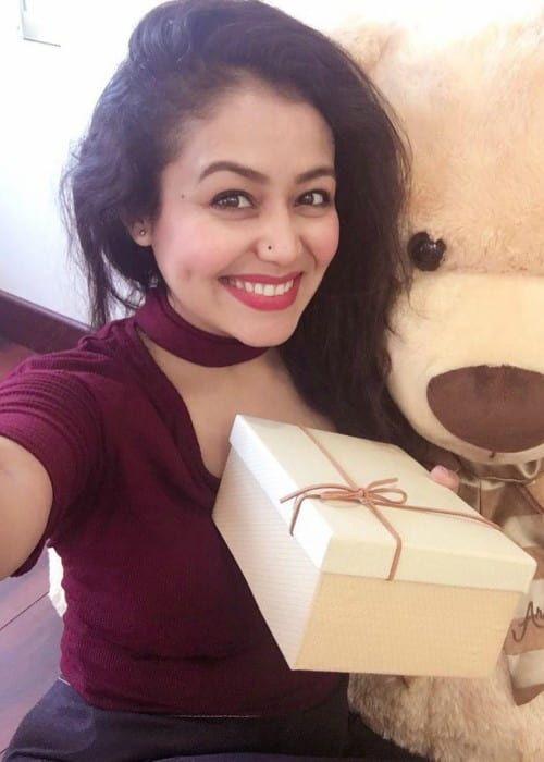 Neha Kakkar In An Instagram Selfie As Seen In February 2018 Neha Kakkar Star Girl Dimples