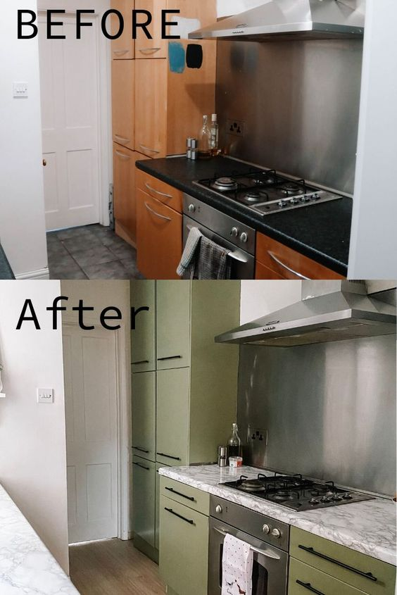 KITCHEN UPCYCLE ON A £200 BUDGET // BEFORE AND AFTER GLOWUP – THE LAYOVER LIFE