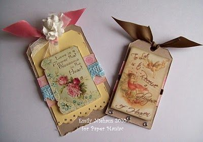vintage tags | Emmie-Lou Who...Stamps & You!: Vintage Valentine Tags