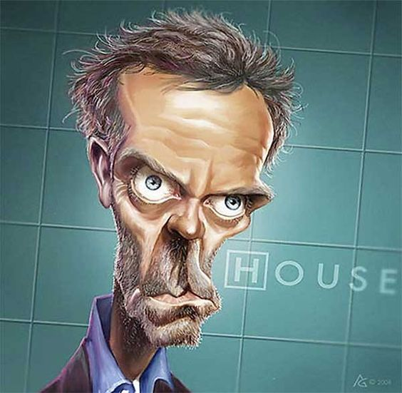Anthony Geoffrony, caricatura del Doctor House
