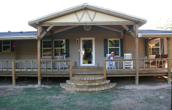 Front porch mobile home google search craftsman for Farmhouse double wide