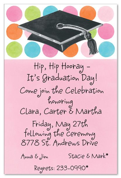 graduation party wording – Invitation for Graduation Day