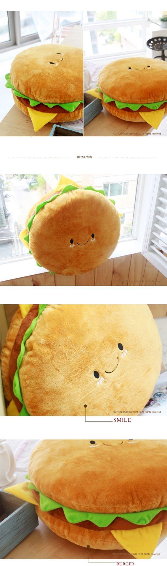 Burger pillow LINK: http://www.ebay.com/itm/PET-PILLOW-VARIOUS ...