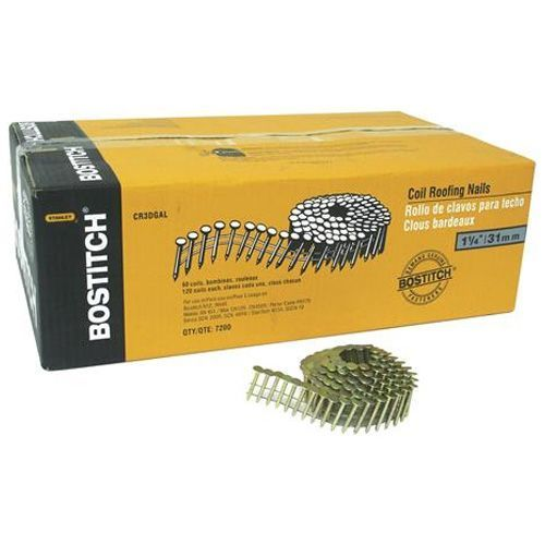 Bostitch Roofing Nails 15 Coil Galvanized 1 1 4 60 Box Cr3dgal Rona Sawreviewed Roofingnailer Roofingnailg In 2020 Roofing Nails Roofing Nailer Roofing