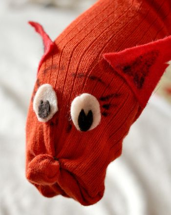 Activities: Craft a Fox in Socks-Style Sock Puppet