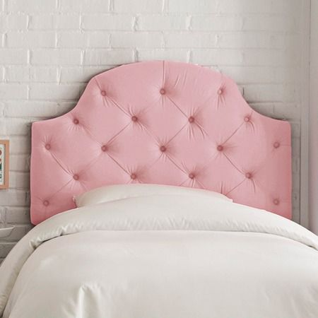 Pretty in pink! Emmeline Tufted Full Headboard -DIY for abbéy big girl bed