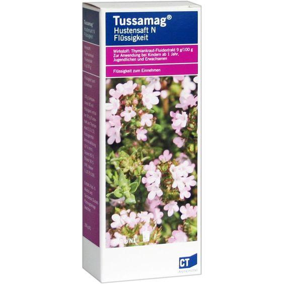 TUSSAMAG Hustensaft N:   Packungsinhalt: 200 g Flüssigkeit zum Einnehmen PZN: 04424501 Hersteller: AbZ Pharma GmbH Preis: 5,63 EUR inkl.…