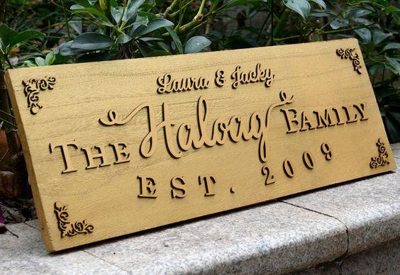 3D personalizado nombre signo placa por encargo por bridenew
