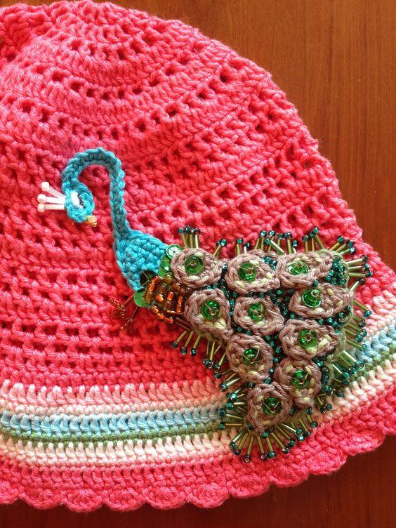 Crocheted peacock - made by me according to Vendulka Maderska ´s pattern (www.kouzlenishackemajehlicemi.cz/en/)