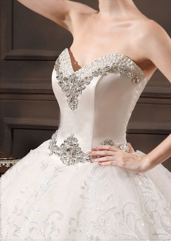 modabridal.co.uk SUPPLIES UK Style Crystal Ball Gown Natural Elegant & Luxurious Sweetheart All Sizes Appliques Sleeveless Wedding Dress Tulle Wedding Dresses (3):