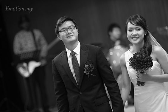 Chinese Wedding, Church Ceremony and Wedding Reception at Prince Hotel, Kuala Lumpur http://www.emotioninpictures.com