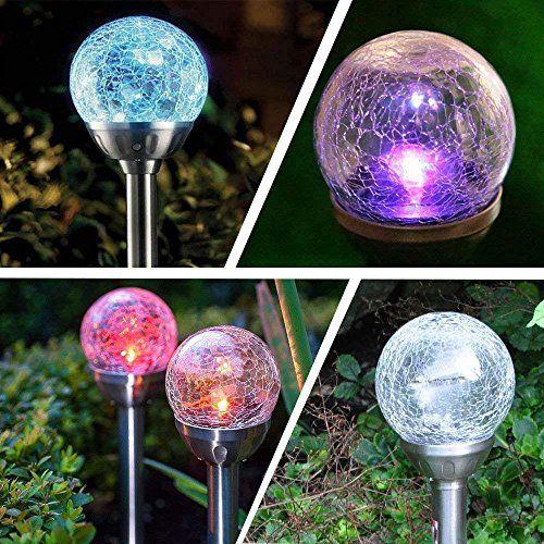 Kobwa Lampes Solaires D Exterieur Lot De 4 Lampes Solaires Allee