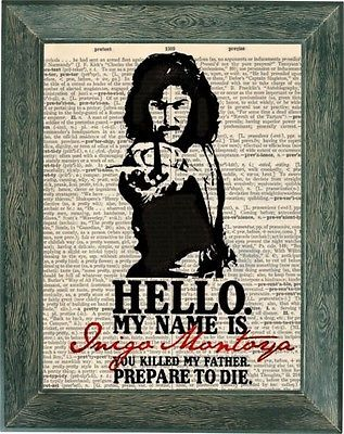 The-Princess-Bride-Inigo-Montoya-art-print-on-vintage-dictionary-page-8x10