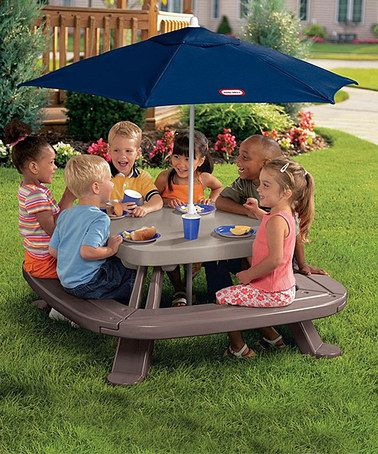 Take a look at this Fold 'n' Store Picnic Table & Market Umbrella by Little Tikes on #zulily today!