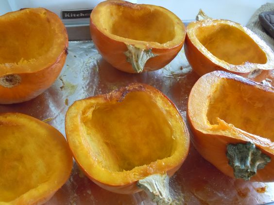 roasted pumpkins for my soup