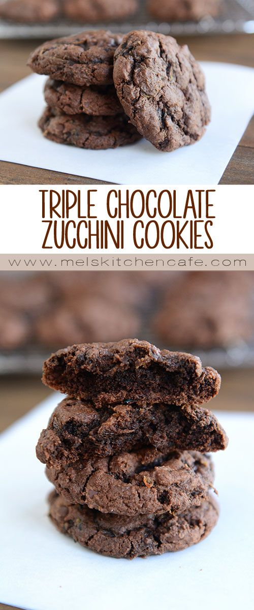 These amazing chocolate zucchini cookies are not cakey at all. They are dense and rich and completely chocolatey.