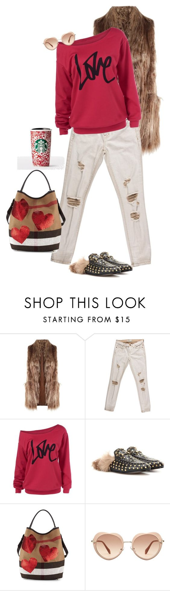 """""""Unbenannt #747"""" by lila77 ❤ liked on Polyvore featuring Related, Current/Elliott, Gucci, Burberry and Miu Miu"""