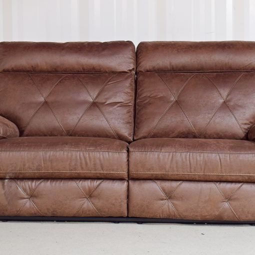 Homeflair Ashley Fabric Brown Electric Recliner 3 Seater Sofa 51 Divan