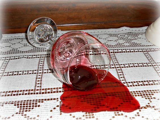Fake Spilled 7 Glass of Burgundy Merlot Wine by FakeFoodDecor, $30.00
