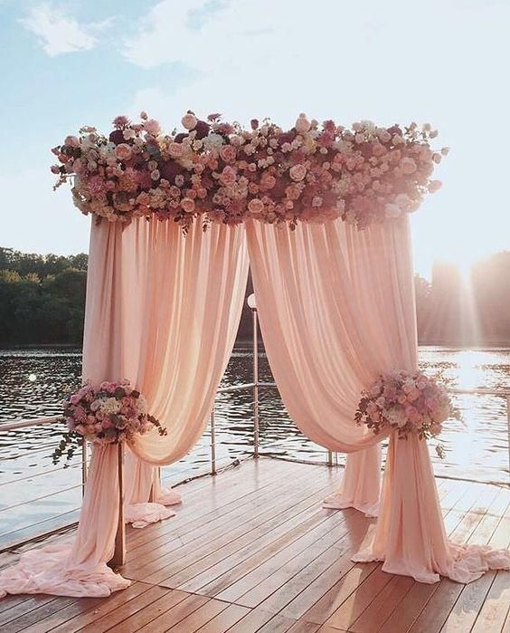 Create A Simple And Gorgeous Backdrop For Under 100 Wedding Decorations Wedding Decor Elegant Dusty Pink Weddings