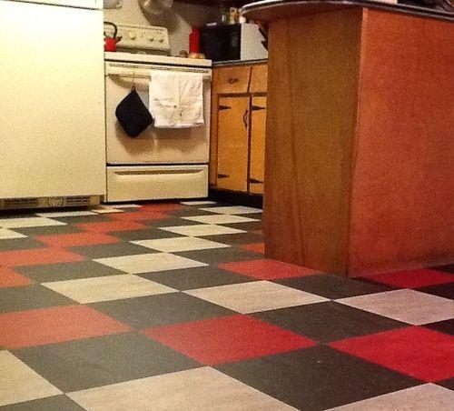 Retro Linoleum Kitchen Flooring: Vintage Linoleum Kitchen Floors