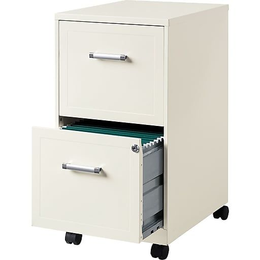 Hirsh Industries 2 Drawer Vertical File Pearl White Letter 14 25 W 19634 At Staples Filing Cabinet Drawers Mobile File Cabinet