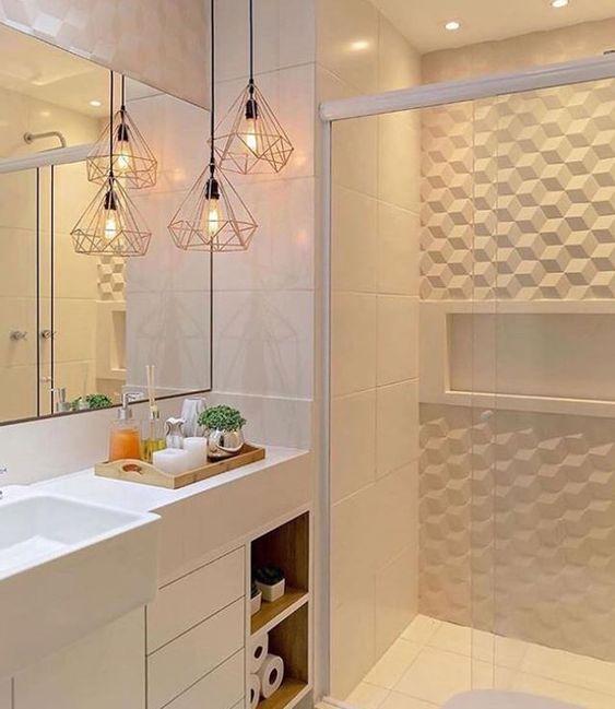 Inspirações e dicas para o banheiro perfeito - Iluminação