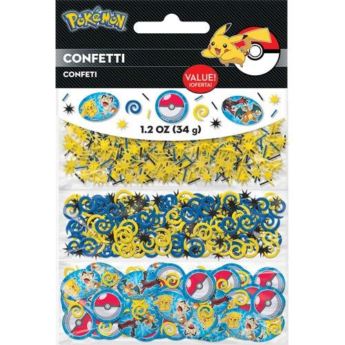 Pokemon Pikachu And Friends Value Confetti -Pack of 3 - 34gm